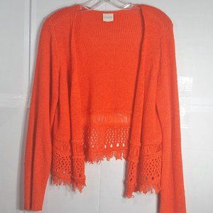 Chico's  Loose Woven Open Cardigan